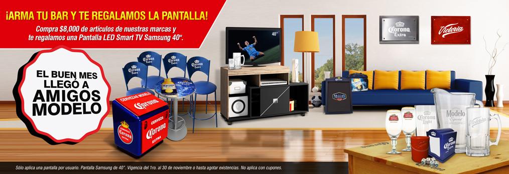 """Grupo Modelo: Compra $8,000.00 de artículos, GRATIS Samsung 40"""" Led Smart TV"""