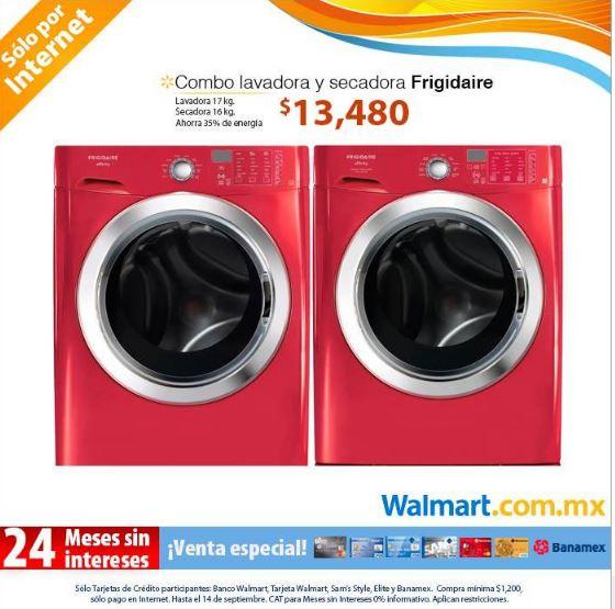 Walmart: combo lavadora y secadora Frigidaire Affinity $13,480 ($21,000 en Best Buy)