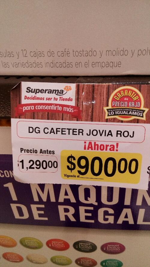 Superama: Cafetera Jovia Roja rebajada de $1,290 a $900