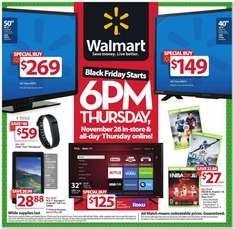 Walmart USA Folleto Black Friday 2015