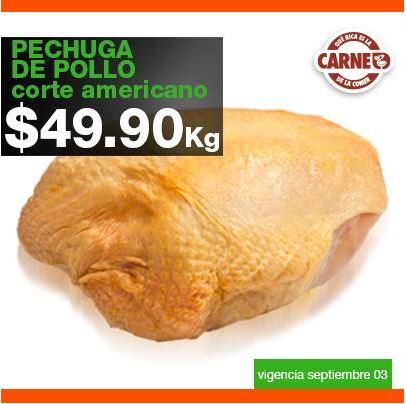 Carnes en La Comer septiembre 3: pechuga de pollo $49.90 y más