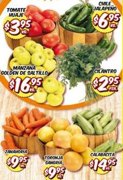 HEB: tomate $3.95, chile jalapeño $6.95 y más