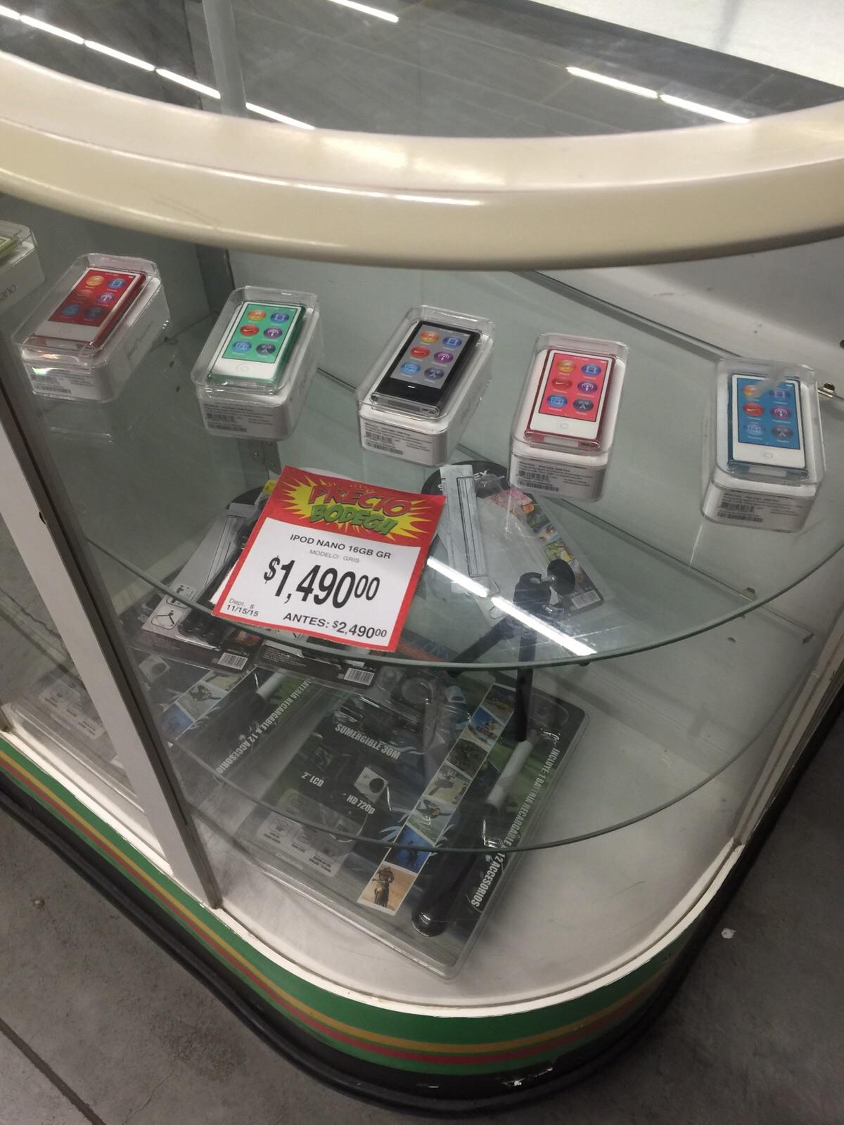 Bodega Aurrerá 3 puentes Morelia: iPod Nano 7g a $1,490