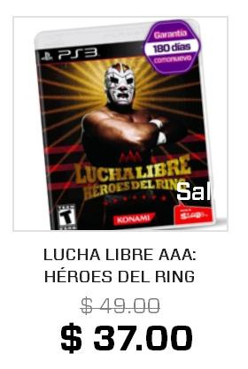 Gamers en linea: PS3 Lucha libre AAA  $37
