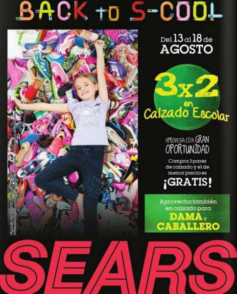 Sears: 3x2 en calzado escolar y en calzado de hombre y mujer
