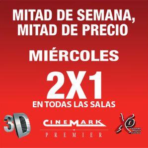 Cinemark: miércoles 2x1 en todas las salas