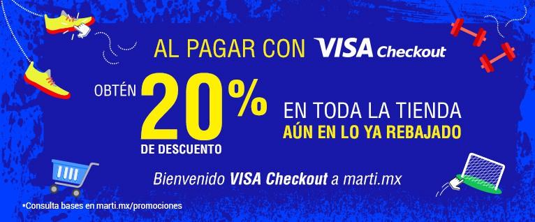 Martí: 20% de descuento en toda la tienda con Visa Checkout