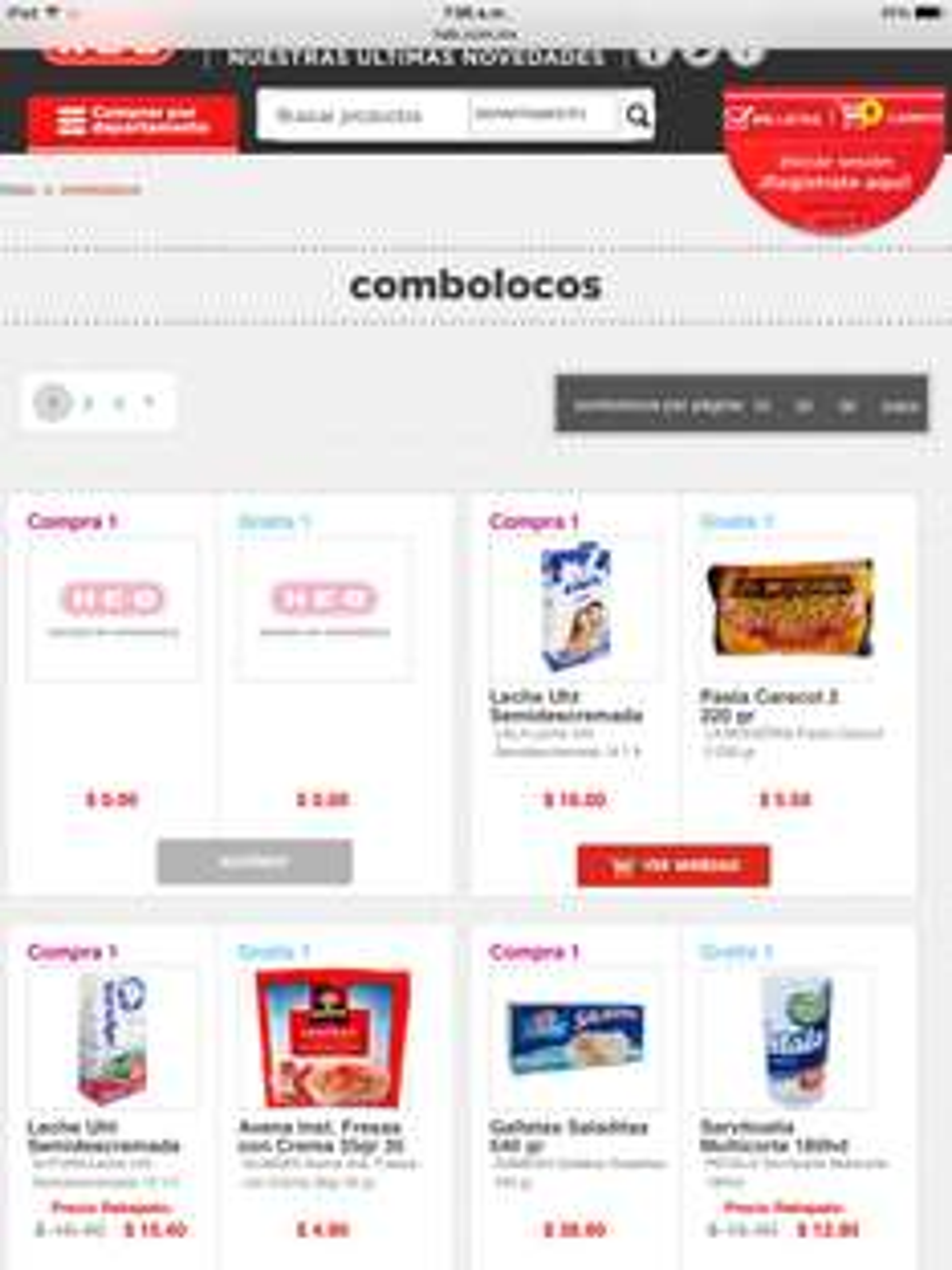 HEB: Combolocos varios productos