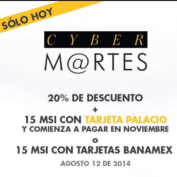 Palacio de Hierro: Cyber Martes Banamex