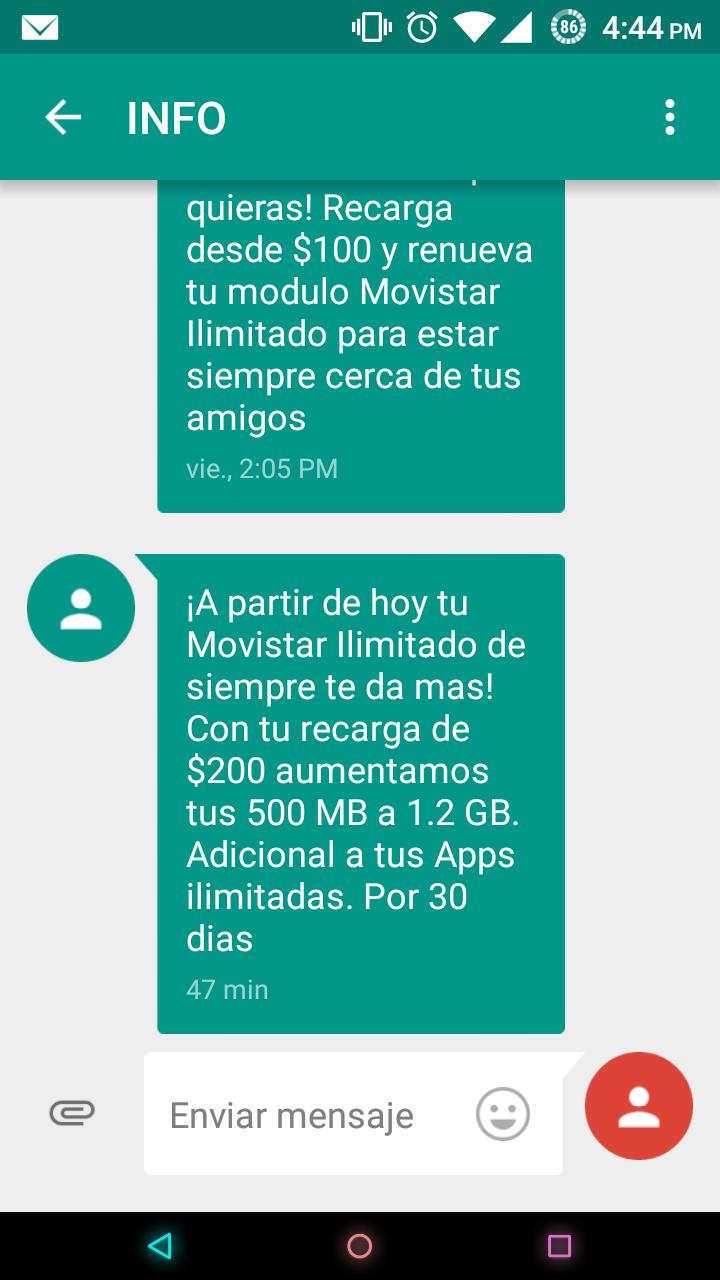 Movistar Ilimitado ahora te da 1.2 GB