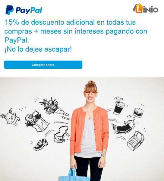 Linio: 15% de descuento extra con PayPal (ejemplo Xbox One $6,374 y PS4 $6,119)