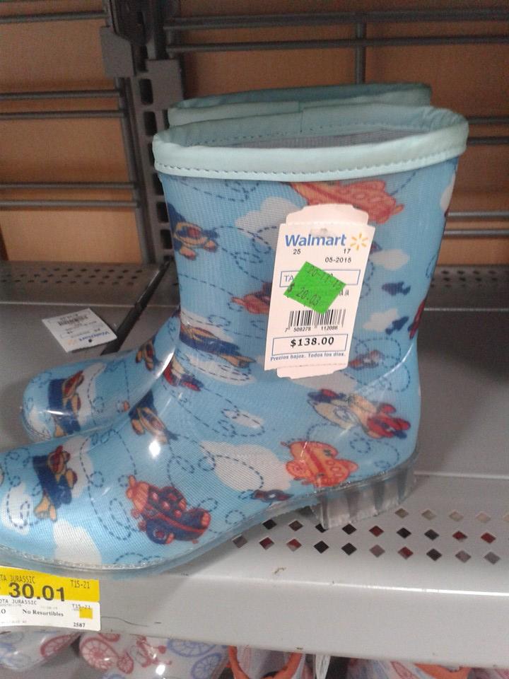 Walmart: Botas para niños y niñas $20.01 y $30.01 pesos