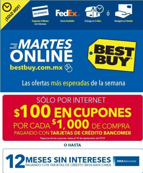 Martes online Best Buy Bancomer