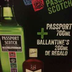 Walmart Refinería: Passport 700ml + Ballantine's 200ml $125