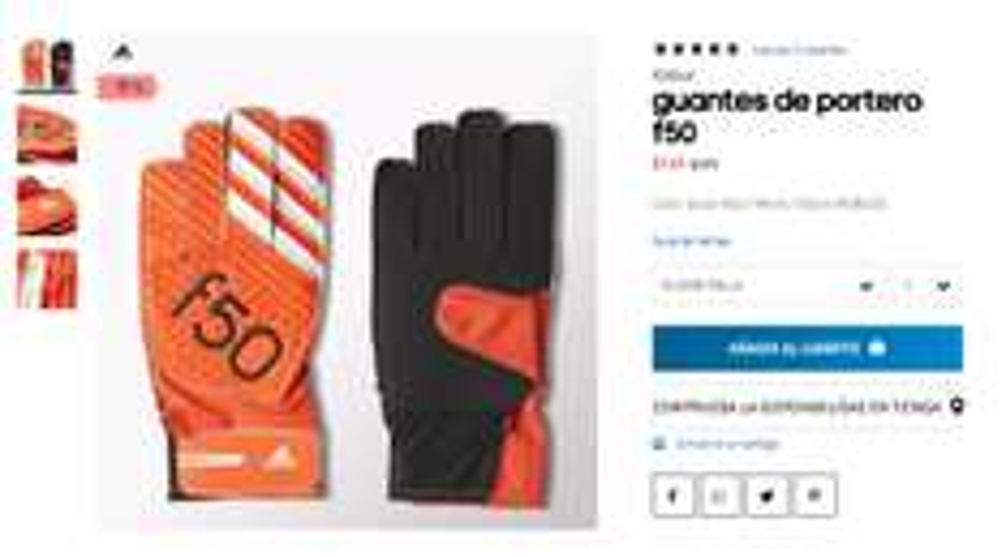 Adidas: Guantes de Portero 70% de Descuento
