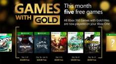 Xbox Games with gold de Diciembre