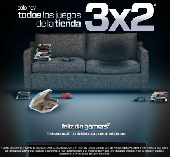 Gamers: 3x2 en todos los videojuegos de 4 a 6 de la tarde