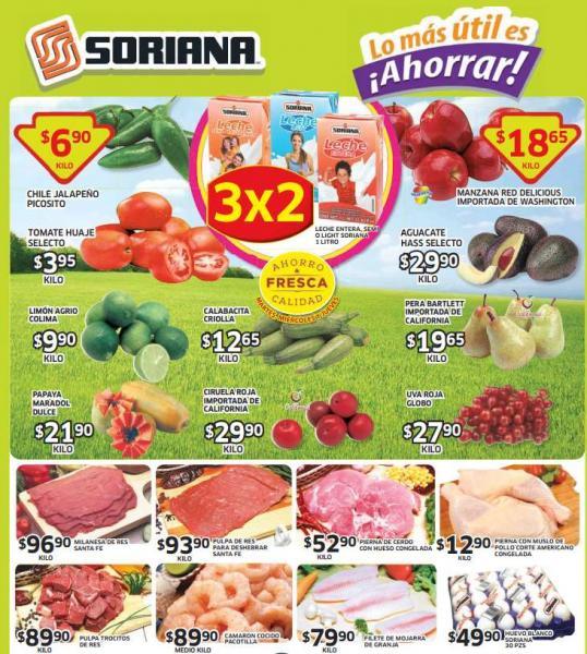 Ofertas de frutas y verduras en Soriana del 12 al 14 de agosto