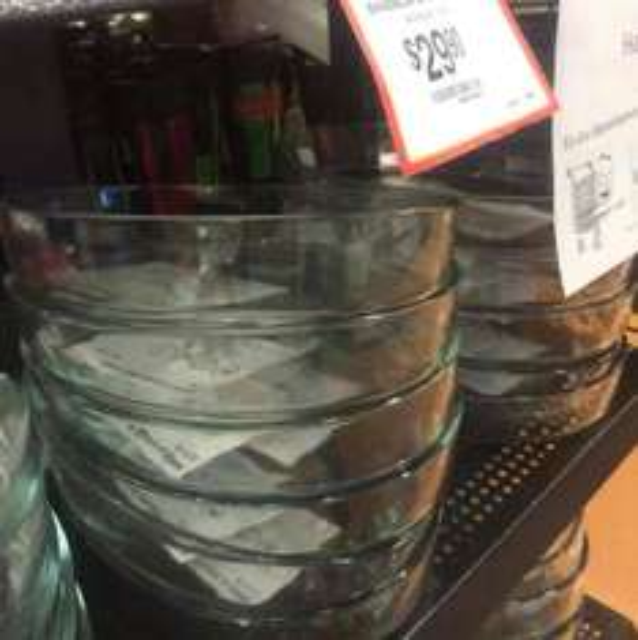 Walmart Lindavista: bandeja de cristal a $29.90
