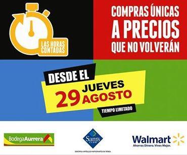 Las horas contadas 2013 en Walmart, Sam's Club y Bodega Aurrerá