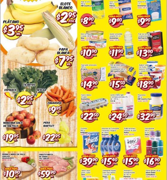 HEB: plátano $3.95 el kilo y más