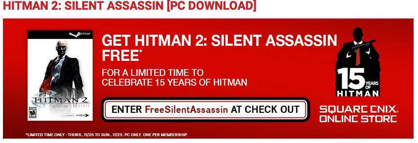 HITMAN 2: SILENT ASSASSIN [STEAM] Gratis!