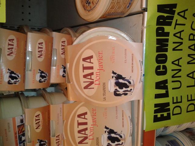 Comercial mexicana 2x1 en nata  de leche.