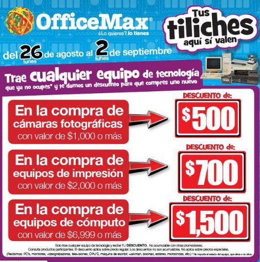 OfficeMax: descuentos de $500 a $1,500 reciclando artículos