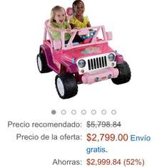 Amazon MX: Wheels Barbie Jammin Jeep Wrangler a $2,799