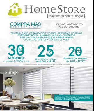 The Home Store: 30% de descuento en varios departamentos con compa mínima