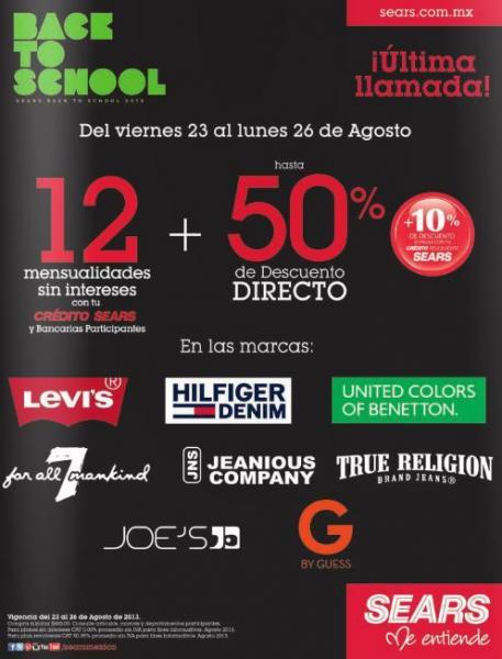 Sears: 3x2 en calzado y hasta 50% de descuento en ropa de marca