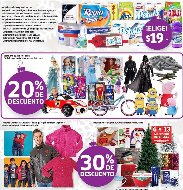 Soriana: 20% de descuento en juguetes, bicis, 30% en chamarras, pinos y más