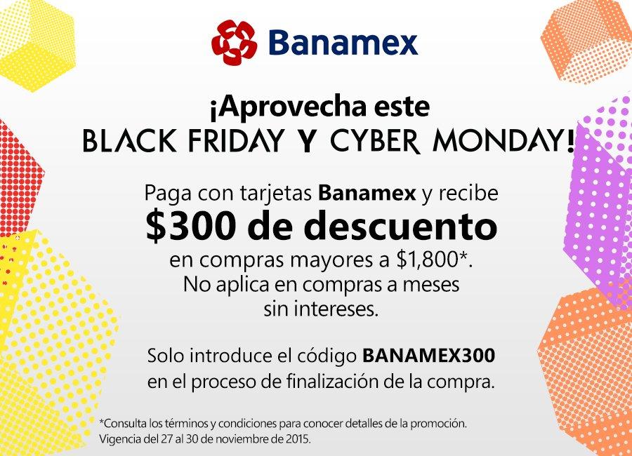 Amazon MX Cupón $300 con Banamex mínimo de compra $1800