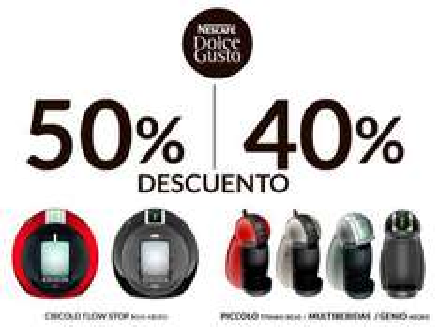 The Home Store: 40 y 50% de descuento en cafeteras Dolce Gusto