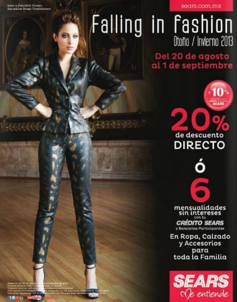 Sears: 20% de descuento en ropa y accesorios nueva temporada