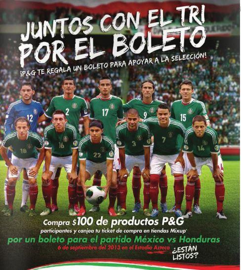 Boleto gratis para México – Honduras comprando $100 de Procter & Gamble