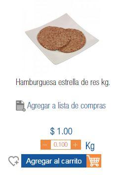 Carne para Hamburguesas 1 peso el kilo  Chedraui en linea, Leche Fresca y Pan a 2.20 1.89L