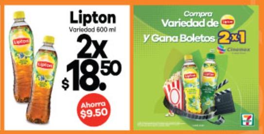 Seven Eleven Bahia de San Hipólito: Té Lipton 600 ml 2X$18.50