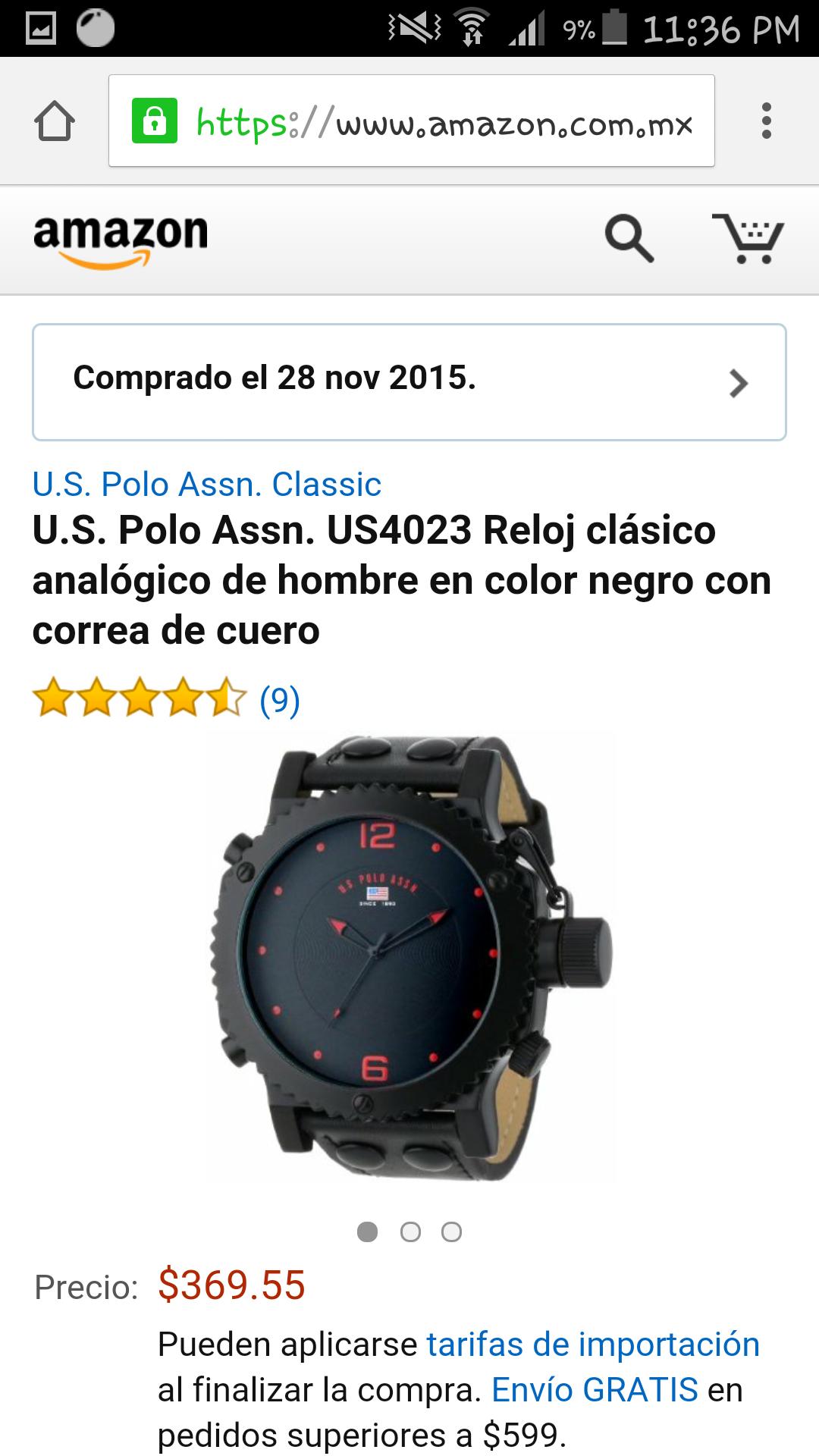Amazon: RELOJES U.S. POLO EN $365 PESOS