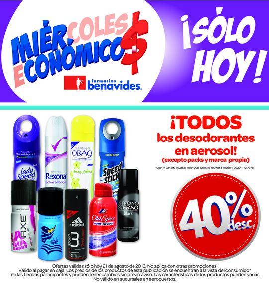 Farmacias Benavides: 40% de descuento en fijadores y desodorantes en aerosol