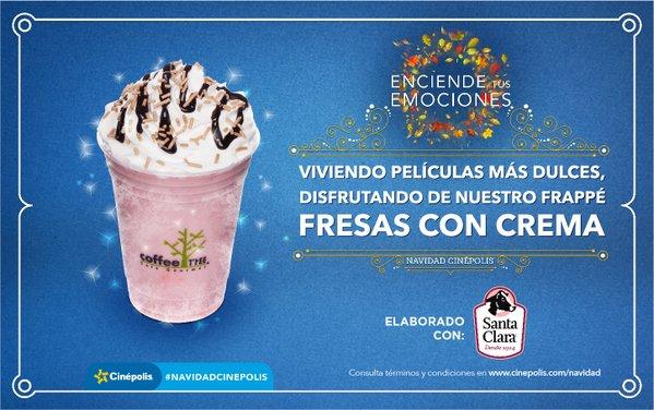 Cinépolis Navidad día 3: frappe fresa con crema