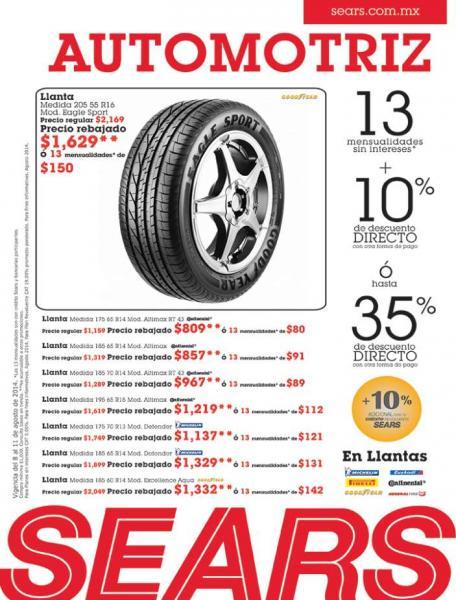 Sears: semana de la salud, mes automotriz y mes de ferretería Craftsman