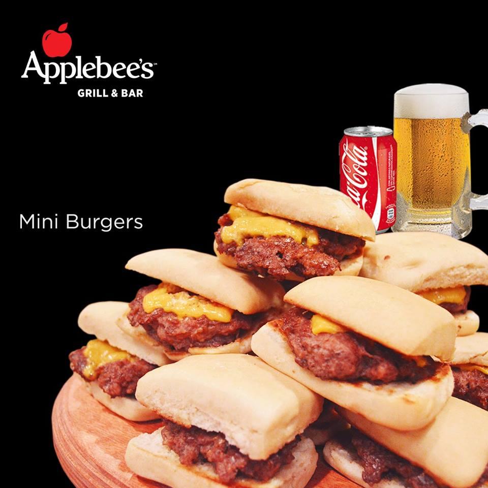 Applebee's: Minihamburgesas con queso (TODAS LAS QUE PUEDAS COMER + 1 coca o 1 cheve)