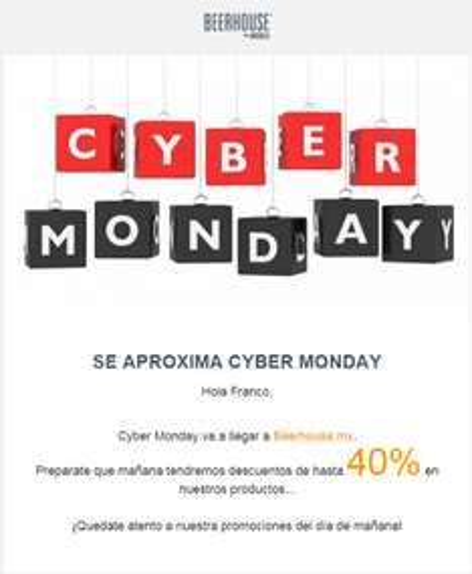 Cyber Monday: HASTA 40% de descuento en Beerhouse