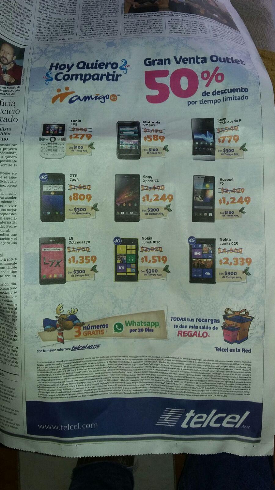 Gran venta de liquidación Telcel (R8)