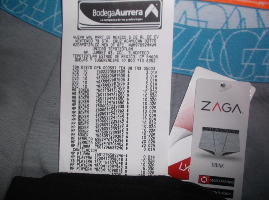 Bodega Aurrerá Tepotzotlan: Trunks ZAGA 10.02 Boxers Simply Basic en 10.03 y varios más