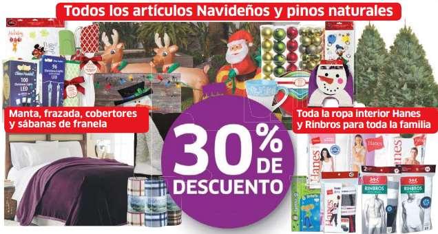 Soriana: 30% de descuento en árboles de Navidad, ropa interior, sábanas de franela y más