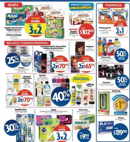 Farmacias Benavides: 3x2 en Huggies, Saba, 2x1 en Diapro y más