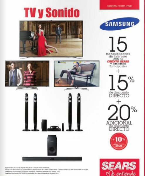 Sears: 3x2 en películas y iTunes 32% de descuento en pantallas Samsung y más