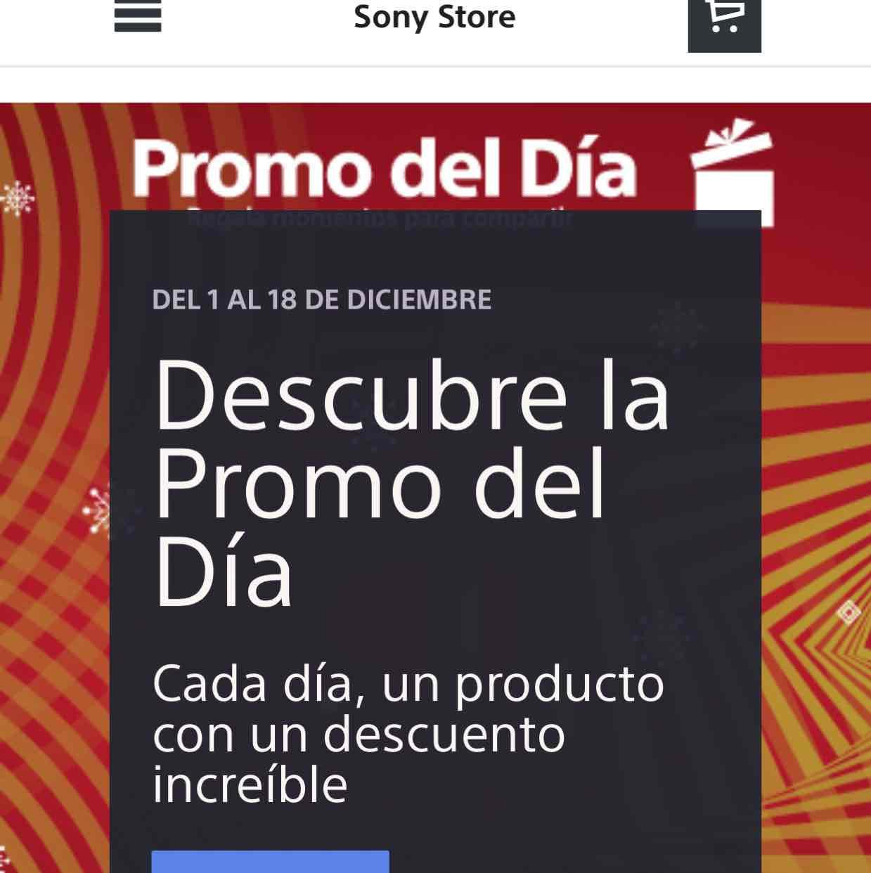 Sony Store: promoción especial cada día del 1 al 18 e diciembre